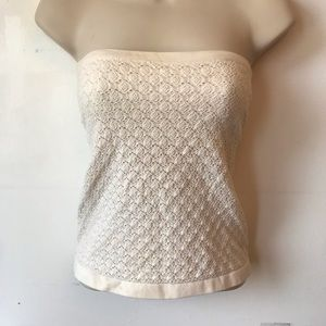 Free People Tops - Free People Green Strapless Crochet Tube Top Shirt